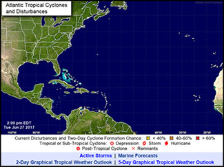 Active Tropical Storms