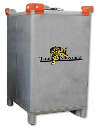 Tiger Industrial 550 Gallon Stainless Steel Transport Tank
